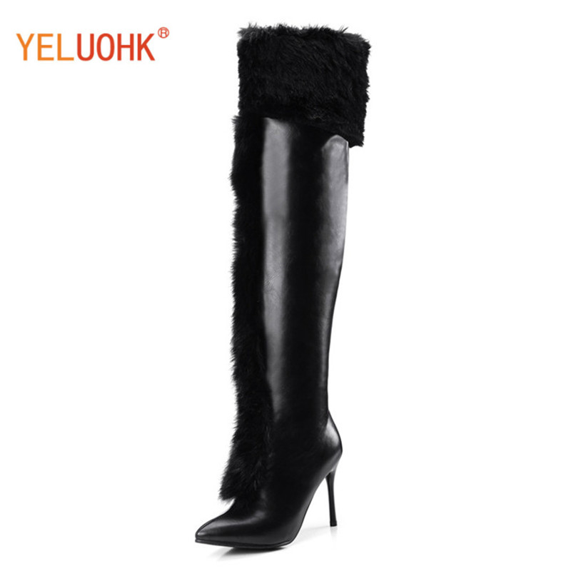 34-43 Over The Knee Boots Women Winter High Boots For Women Platform Thigh High Boots Female Winter Shoes Big Size<br>
