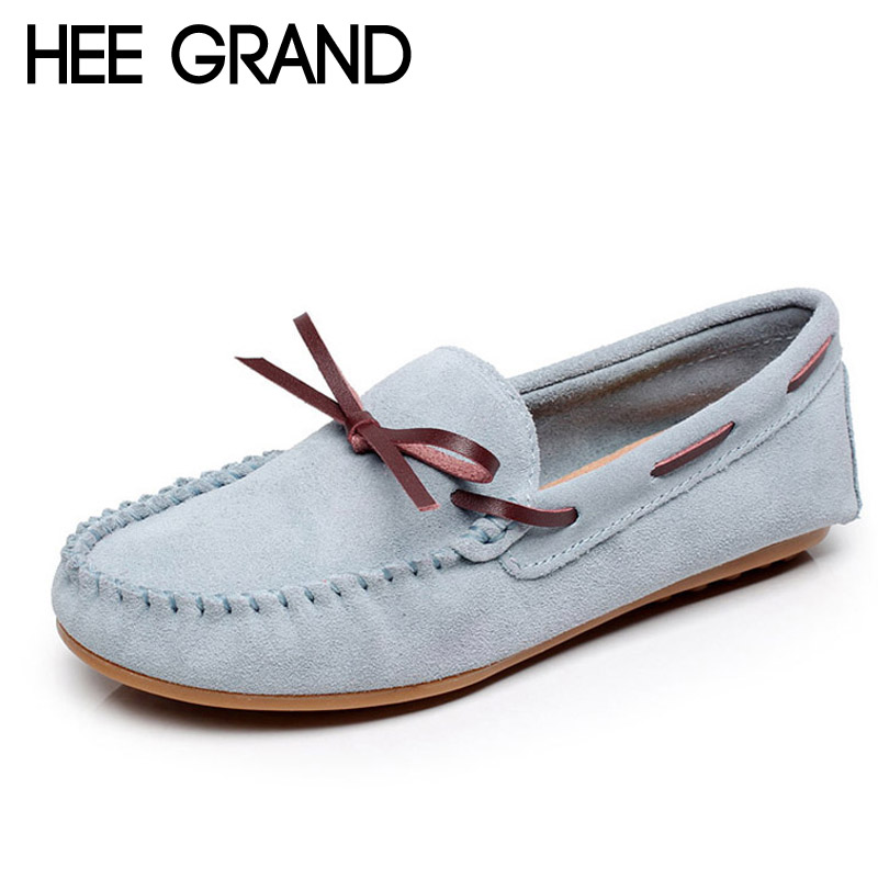 HEE GRAND Candy Colors Loafers Casual Leather Shoes Woman Bowtie Slip On Flats Spring Soft Moccasin Platform Women Shoes XWD4284<br><br>Aliexpress