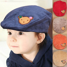 Corduroy Kids Boys Hats Multicolor Elastic Baby Beret Cap Accessories for 1-3 Years 1 PC