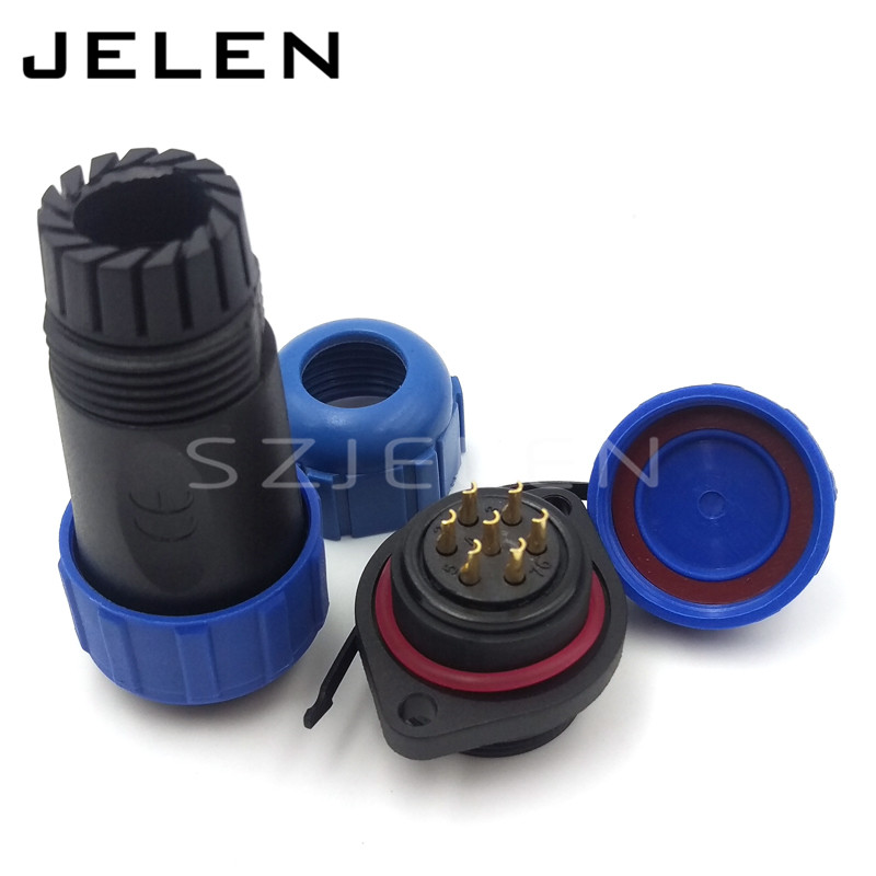 SP2110, high quality IP68 solar connector male female power connector IP68 waterproof 7 pin connector, led power connector7 pin<br>