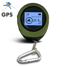 New Mini GPS Tracker Receiver Handheld Location Finder USB Rechargeable with Electronic Compass for Outdoor Practical Travel Car(China)