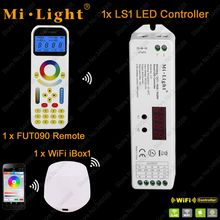 Mi.Light LS1 DC12V 24V 15A 4 in 1 Smart LED Controller for Single Color, CCT, RGB RGBW Strip + 2.4GHz Remote FUT090 + WiFi iBox1