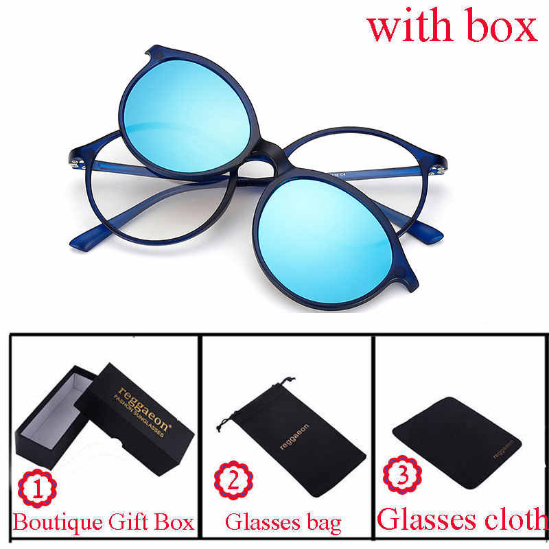 2e1364d28f 2018 Sunglasses Women Men Polarized Magnetic Clip Glasses Clip On Sunglasses  Magnet Myopia Glasses Frame Optional