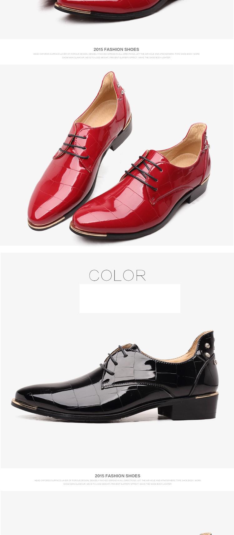 Men shoes 16 new fashion PU leather casual men shoes 11