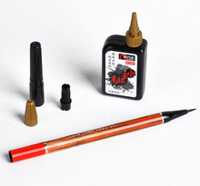 Chinese Calligraphy Refillable Brush Pen Small Regular Script with Black Ink(China)