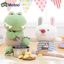 Metoo Cartoon Animal Plush Toys for Boys Girls Crocodile Rabbit Cat Hippo Stuffed Dolls Cute Soft Toy for Baby Kids Gift Doll(China)