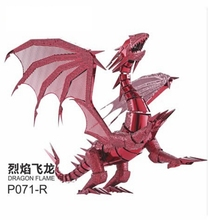 New Arrivals 3D puzzle Dragon Models 3d metal model DRAGON FLAME Metal Puzzle scale model kit adult/children educational toy(China)