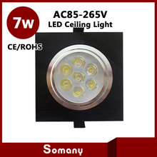 4 pieces Living Room Furniture Decorative Recessed Ceiling Lighting CE&ROHS Sliver/Black AC85-265V 7W Led Embedded Ceiling Lamps