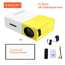 Original YG300 LED Portable Projector 500LM 3.5mm Audio 320x240 Pixel HDMI USB Mini YG-300 Projector Home Media Player PK VS314