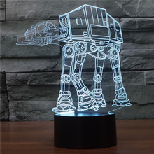 Creative 3D illusion Lamp Star Wars troop dog LED Night Light Acrylic Atmosphere Lamp Novelty Lighting Sleep Lamp Kids Birthday(China)