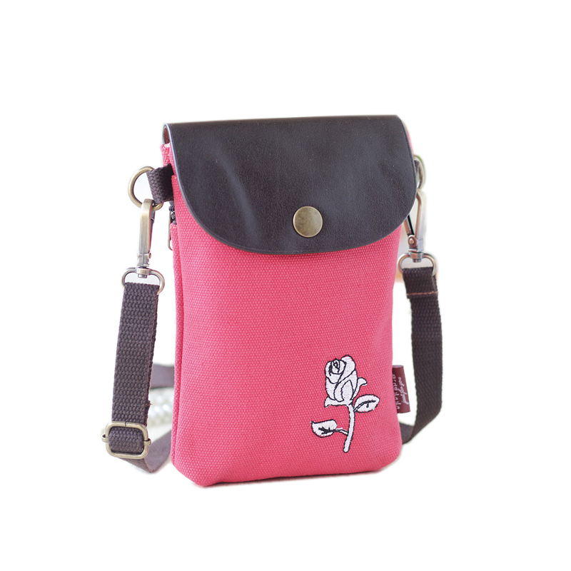 Newest Cartoon embroidered Women canvas bag Mini Floral Crossbody Shoulder Bags for girls Female clutch handbag sac B078<br><br>Aliexpress