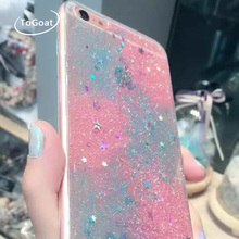 ToGoat Glitter Case For iphone 6 Case Fashion Gradient Bling Cover Colorful Shining Powder Star Phone Cases For iphone 6S 7 7 PL