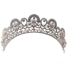 Crystal Rhinestones Pearls Crowns Tiaras Bride Hair Accessories Bridal Wedding Hair Ornament