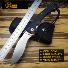 Very Sharp BIGONG  Camping Folding Knives 5CR15MOV Cold Steel G10 handle Camping Outdoor Survival Knives Pocket Tools OEM OEM