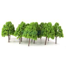 25Pcs Model Cypress Trees Train Railroad Scenery 1:150 Light Green
