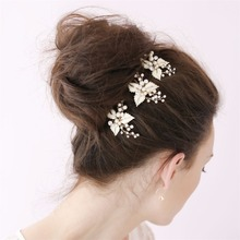 1 piece/pack New Bridal Hairpins Wedding Hair Accessories Party Prom Hair Jewelry for Women Handmade Pearl Flower Headpiece