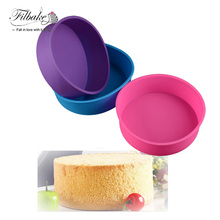 FILBAKE 3D Silicone for Soap Cupcake Cake Mold Round Shape Cake Pan Bread Chocolate Making Mold Bakeware DIY Baking Tools