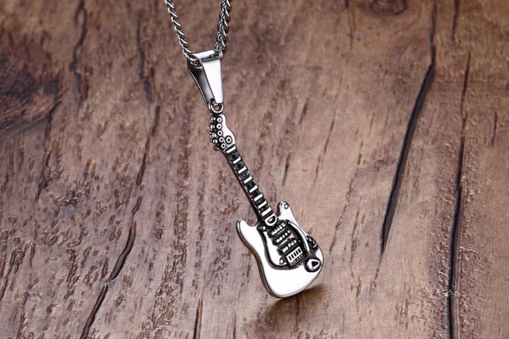 Men Guitar Pendant necklace 22