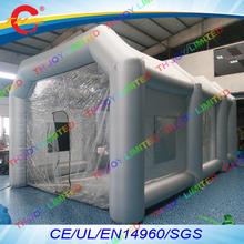 free air shipping to door,9x5x3.5Mh Portable Inflatable Paint  Spray Booth tent For Car Paint