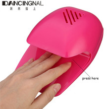 2017 Mini Portable Nail Polish Air Dryer Battery Fan Nails Art Drying Wet Polish Blow Dryer Fast Machine Maincure Tools Travel