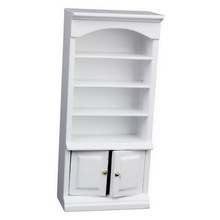New Brand 1/12 Dollhouse Miniature Furniture Painted Bookcase Cabinet White Free Shipping