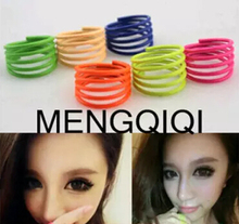 JZ024 Hot summer in Europe and America CuteCute fluorescent color candy color thin ring spiral spring