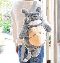 NEW Japan Anime Miyazaki Hayao Tonari no Totoro Periphery Plush Doll Toy backpack Student Bag Kids Gift