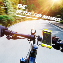 Baseus Bicycle Phone Holder For iPhone 7 Samsung S8 Bike Mount Mobile Phone Holder Navigation GPS Stand for 4-6 inch all phone