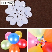 5pcs/lot 6 Balloons Seal Clip That Combine To Flower Shape Latex Balloons Wedding Birthday Party Supplies Plastic Balloons Clips