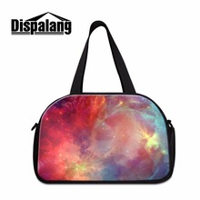 colorfu galaxy shoulder luggage travel bags for women sporty bag travel carry on bag for girls large capacity travel duffle tote