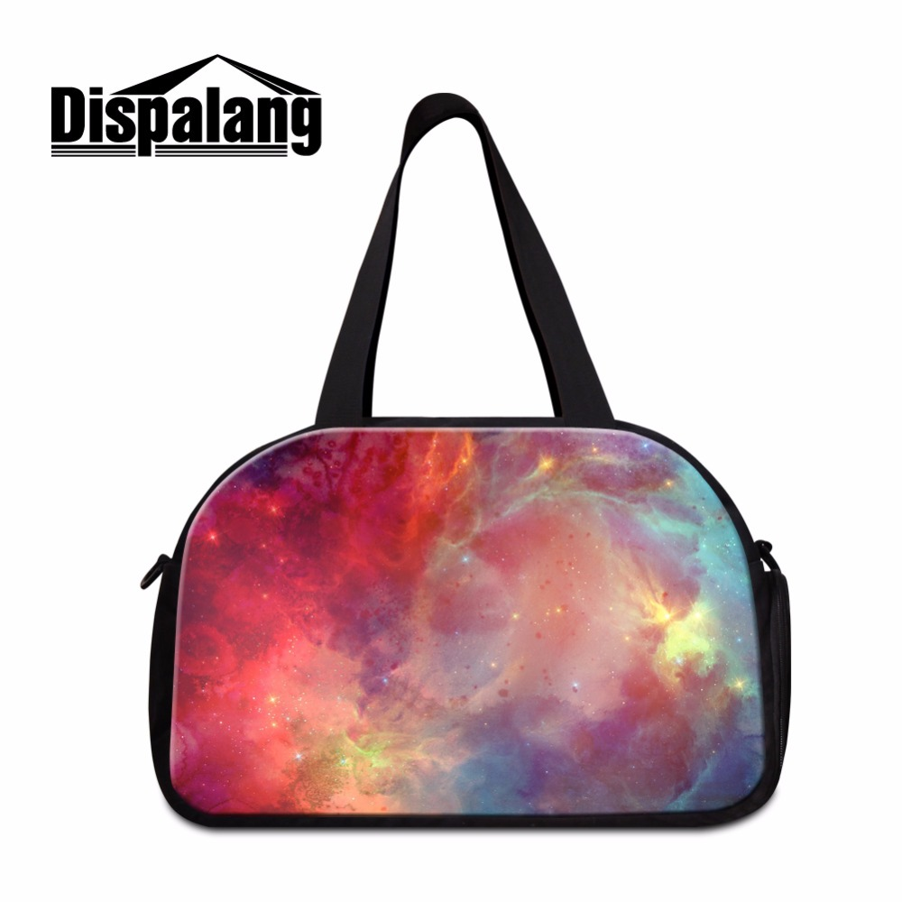 colorfu galaxy shoulder luggage travel bags for women sporty bag travel carry on bag for girls large capacity travel duffle tote<br><br>Aliexpress