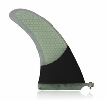 Single Centre Fins 9'' Surfboard Fins Honeycomb And Stand Up Paddle Board Carbon Fiber Surfing Fins(China)