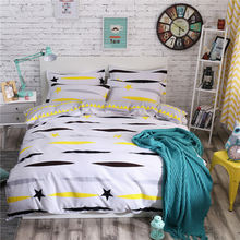 3 pcs 100% Cotton Bedding Set Modern style Soft Bed Linen Duvet Cover Pillowcases Home Textile Queen Full Coverlets 8 Size