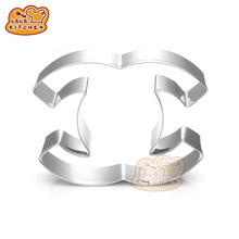 Letter C shape Cake Mould Stainless Steel Cookie Cutter Biscuit Fondant Modeling Shape Decorating Baking Tool 8161