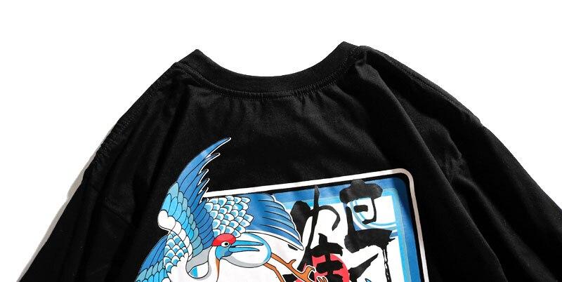 Japanese Crane Tshirts 5