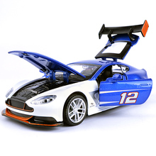 J&CLIFE New 1:32 Toy Car Aston Martin GT3 Metal Alloy Diecast Car Model Diecasts & Toy Vehicles Model Car Toys For Children