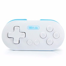 2017 Newest Mini 8Bitdo ZERO Wireless Bluetooth Joystick Gamepad Remote Control Game Controller Selfie Shutter for Mobile Phone(China)