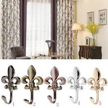1 Pair of Wall Door Mounted Hook Curtain Coat Hat Clothes Towel Hanger