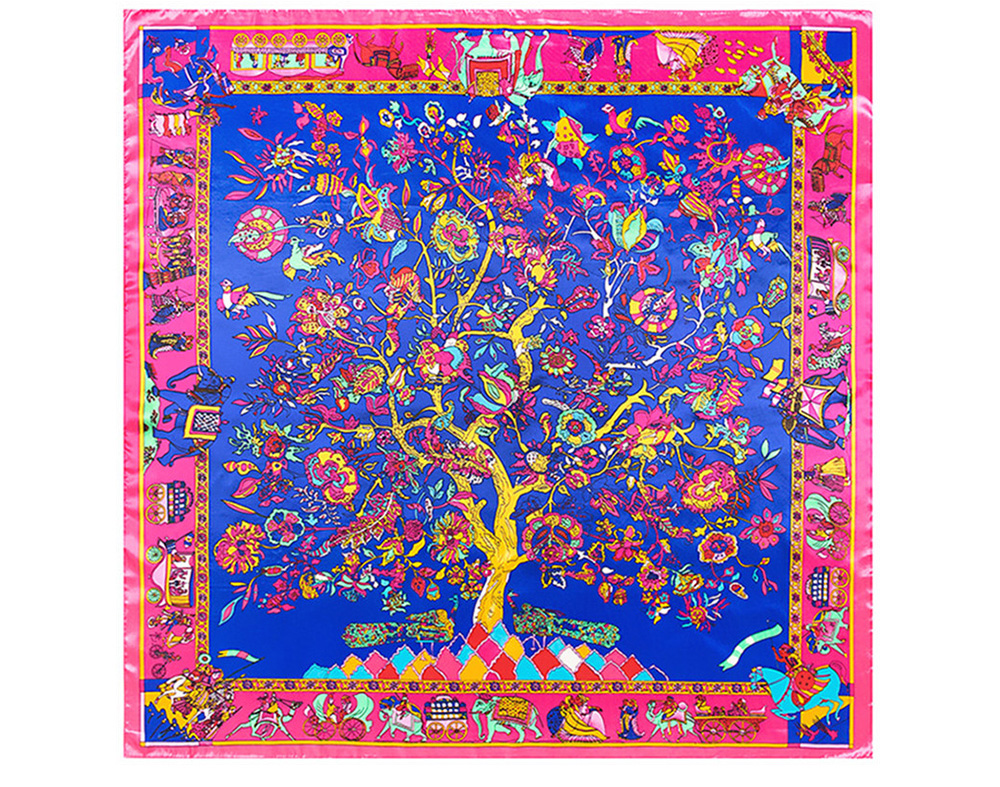 Floral Print Scarf (8)