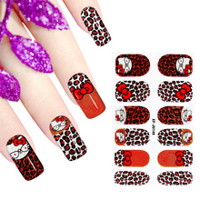 Hello Kitty Nail Stickers Fancy Tonel Design Water Transfer Nail Art Stickers Decals For Nail Tips Decoration DIY Fashion Nail(China)
