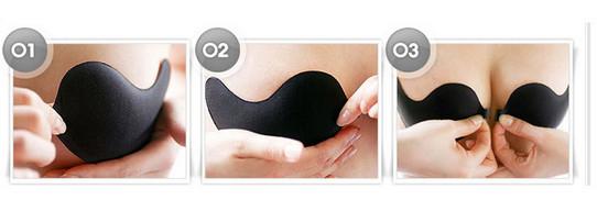 sexy Mango type ladies bra women summer Biological glue underwear bride wedding breast petals 17 new push up 6