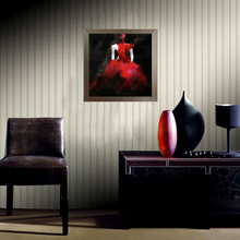 1PCS Abstract canvas paintings Fashion Red Dress Girl Woman Model Wall Painting Modern Home Decor Wall Picture For Drawingroom