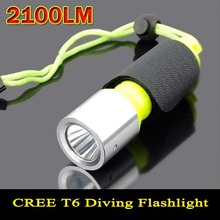 2100LM CREE T6 LED Dive Diving Flashlight Waterproof underwater scuba Dive Torch light lamp Lanterna Torche for diving ZK93(China)