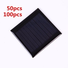50pcs/100pcs 0.25W 5V Solar Panel 50*50mm Polysilicon Epoxy Plate Mini DIY Solar Cell Solar Panel Module Charger Outdoor Camping