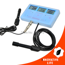 Multi-Function Water Quality Meter EC CF TDS PH Celsius Fahrenheit + Built-in Rechargeable Battery 6-in-1 Tester(China)