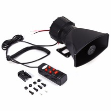 For Car Auto Truck Loud Horn Siren Police Ambulance Fire Alarm With MIC 300db 60W 12V(China)