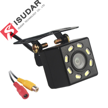Isudar Car Rear 뷰 Camera Universal 백업 주차 카메라 8 LED 밤 Vision 방수 170 Wide Angle HD Color Image(China)