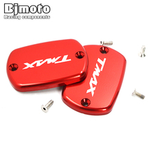 BJMOTO Hot sale 1 Pair Motorcycle Brake Fluid Tank Cap Cover For Yamaha T-Max 530 2012-2016 T MAX 500 2008-2011
