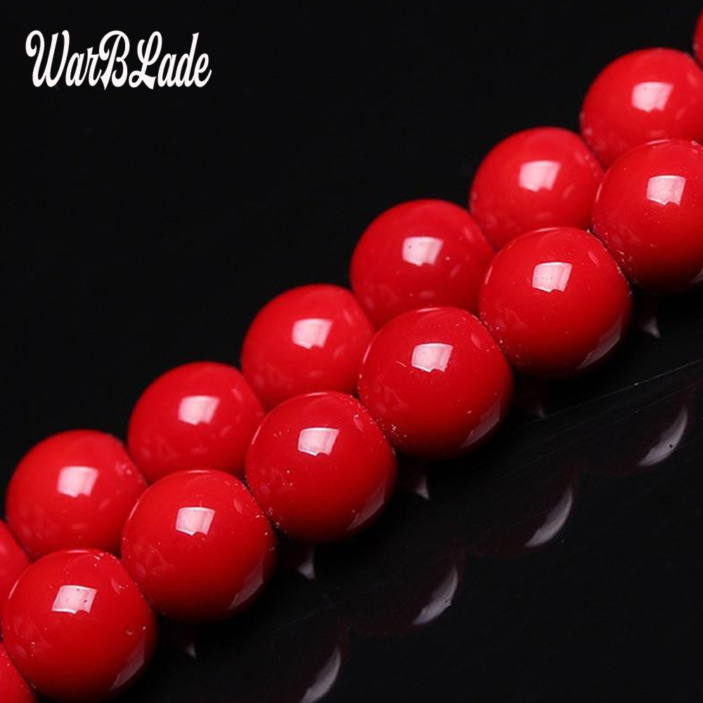 Wbl High Quality Natural Stone Dark Red Coral Beads Round Loose Beads 4mm 6mm 8mm 10mm For Diy Bracelet Necklace Jewelry Making Ideal Gift For All Occasions Jewelry & Accessories Beads