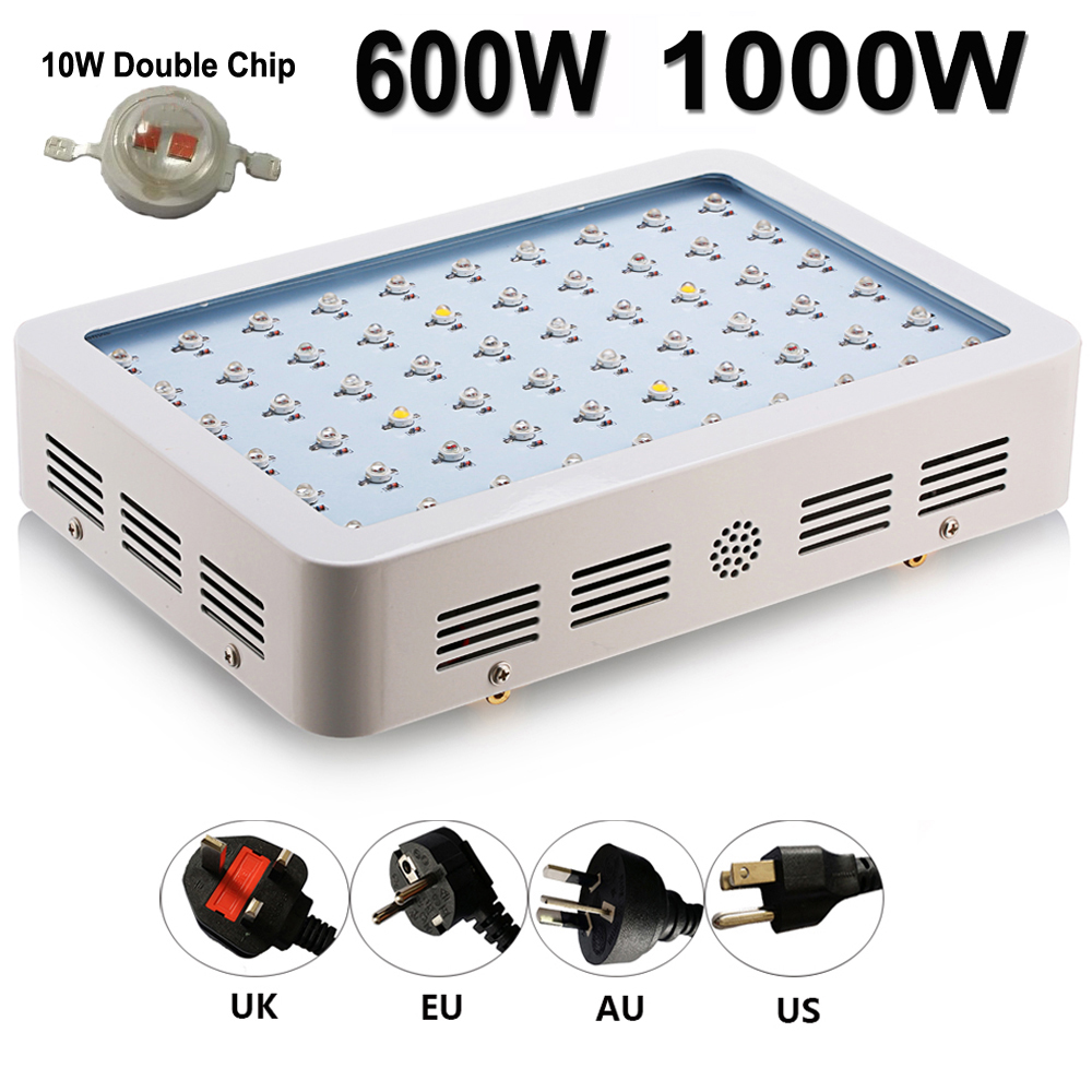 Double Chips LED Grow Light 80W 600W 1000W 410-730nm Full Spectrum LED Grow Lamp For Hydroponics Indoor Grow Tent Plants Flowers<br><br>Aliexpress